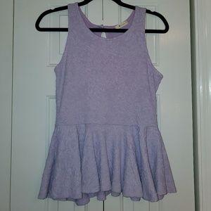 Lilac Peplum Top